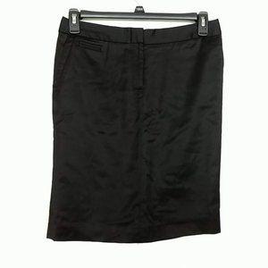 Ivanka Trump Satiny Pencil Skirt Black 6 #3280